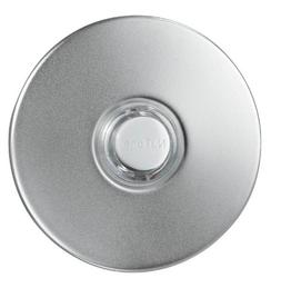 Broan Nutone Pushbutton, satin nickel stucco â lighted