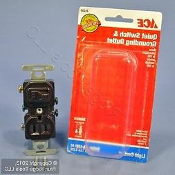 Ace Brown Single Pole Toggle Switch Grounding Outlet Pilot L