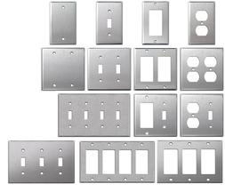 Brushed Satin Nickel Stainless Steel Wall Covers Switch Plat