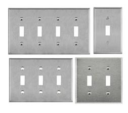 ENERLITES Toggle Light Switch Wall Plate 430 Stainless Steel