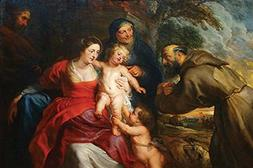 """Buyenlarge 0-587-60222-L-C1218 """"The Holy Family with Saints"""