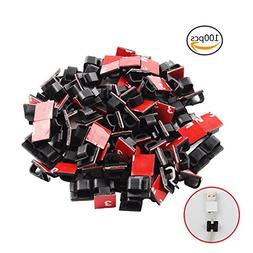 YGDZ 100PCS Cable Clips Adhesive Wire Clips Car Cable Organi