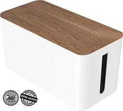 Cable Management Box Organizer by DMoose - Wooden Style - Hi