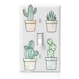 Cactus in Pots Light Switch Cover, Outlet, Home Decor, Night