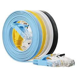 Cat 6 Ethernet Cable 5 ft  Flat Internet Network Cable - Cat