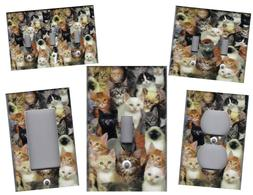 CATS, CATS, CATS HOME WALL DECOR LIGHT SWITCH PLATES AND OUT