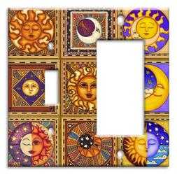 Celestials Theme Metal Wall Plate - Double Gang Combo - Deco