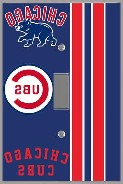 Chicago Cubs light switch cover room wall decor family game
