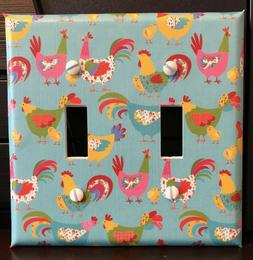 CHICKENS LIGHT SWITCH COVER PLATES OUTLETS COUNTRY FARM BARN