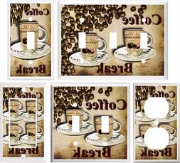 COFFEE BREAK KITCHEN DECOR LIGHT SWITCH COVER PLATE OR OUTLE
