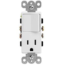 ENERLITES Combination Switch and Outlet, Residential Grade,