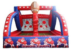 commercial inflatable football toss game