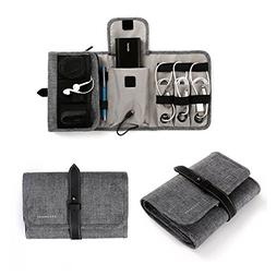 BAGSMART Compact Travel Cable Organizer Portable Electronics