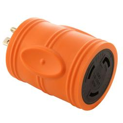 Compact Industrial Adapter 15A 125V Household Plug to NEMA L