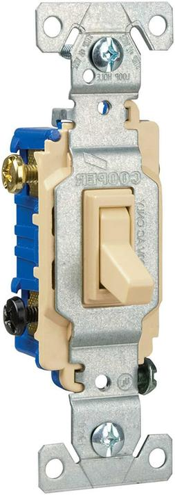 EATON COOPER C1303-7LTV-L LIGHTED TOGGLE SWITCH, 3-WAY, 15A,