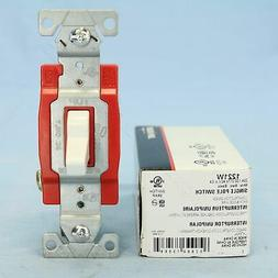 Cooper White AC Single Pole Toggle Wall Light Switch INDUSTR