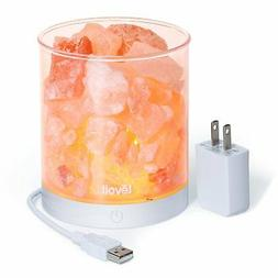 Levoit Cora Himalayan Salt Lamp Natural Glow Pink Sea Crysta
