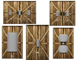 COUNTRY BARN DOORS HOME DECOR LIGHT SWITCH PLATES AND OUTLET