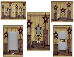 LIVE LOVE LAUGH BARN STAR COUNTRY HOME DECOR LIGHT SWITCH PL