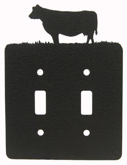 Cow Double Light Switch Plate Cover