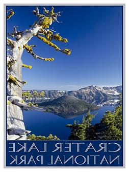 Crater Lake National Park Old Sentinel Giclee Travel Art Pos