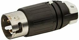 Hubbell CS8165C Locking Plug, 50 amp, 480V, 3 Pole and 4 Wir
