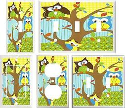 OWLS IN A TREE NURSERY DECOR  IMAGE # 20 LIGHT SWITCH COVER