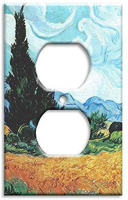 Art Plates - Van Gogh: Yellow Wheat & Cypresses Switch Plate