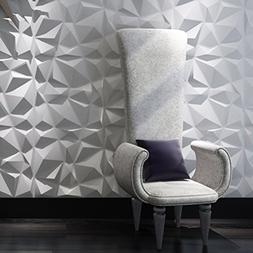 Art3d Decorative 3D Wall Panels Plant Fiber Wall Tiles for I