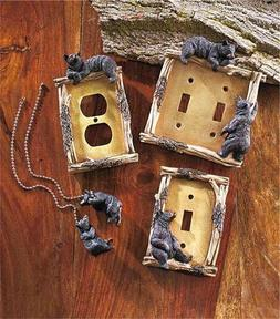 DECORATIVE RUSTIC CABIN LODGE BEAR THEMED LIGHT SWITCH OUTLE