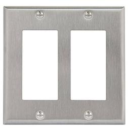 Enerlites Decorator Swtich Wall Plate, Standard Size 2-Gang,