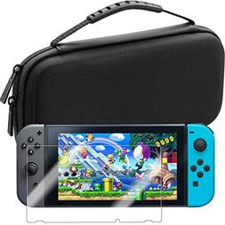 Deluxe Nintendo Switch Travel Case with Premium Tempered Gla