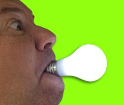 Deluxe PUSH BUTTON LIGHT UP BULB In Mouth LED TV Family Show