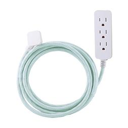 Cordinate Designer 3-Outlet Extension Cord with Surge Protec