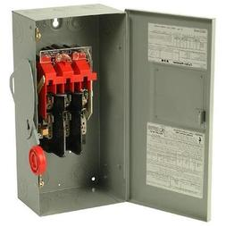 Eaton DH361NGK 30A,3P,600V/250DC, HD Fusible Safety Switch,