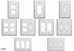 Diamond Plate Aluminum Wall Switch Plate Outlet Cover Toggle