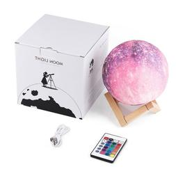 Dimmable 3D Print Star Moon Lamp Touch Switch USB Night Ligh