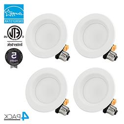 TORCHSTAR 4-PACK 4 inch Dimmable Recessed LED Downlight with