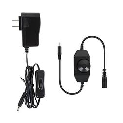 Albrillo Dimmer Switch and Power Adapter 12V 1A, for Under C