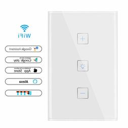 Dimmer Wall Smart WiFi Touch Dimmer Switch 1 Gang 400W Wirel