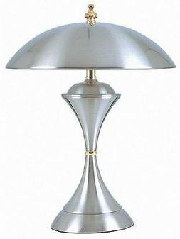 Domed Shape shade Satin Nickel 3-Way Table Touch Lamp  ORE K