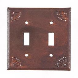 Double Single Electrical Light Switch Cover Metal Plate w/ C