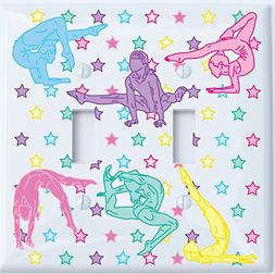 Double Toggle Gymnastic Light Switch Plates Covers / Dance G