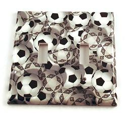 Double Toggle Lightswitch Plate Soccer