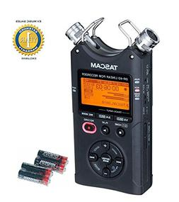 Tascam DR-40 Handheld Digital 4-track Recorder and 4 Free Un