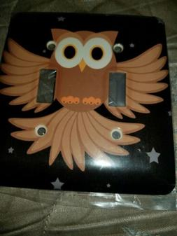 Dual Decorative Owl Lightswitch Cover