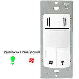 Enerlites DWHOS-W Humidity Control Switch by 2-in-1 Humidity