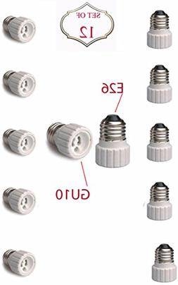 SleekLighting E26 to GU10 Adapters - Converts your Standard