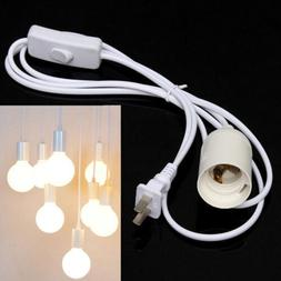 E27 6ft Plug-In Lamp Bulb Socket Cord with Switch Hanging Pe