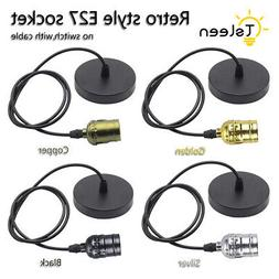 E27 Edison Bulb Socket Cord Adapter Ceiling Lamp Holder Pend